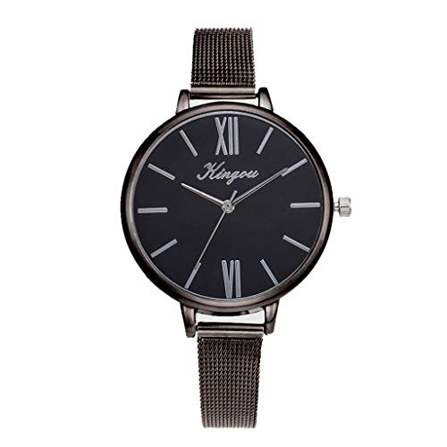 Womens Alloy Mesh Belt Casual Watch Geneva Simple Mesh Belt Watch
