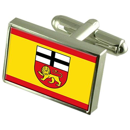 Bonn City Deutschland Fahne Manschettenknöpfe graviert Box