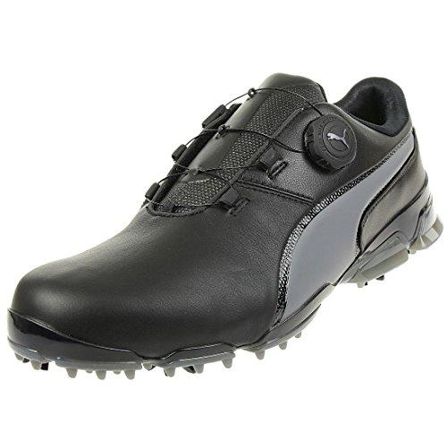 Puma Titantour Ignite Disc Herren Golfschuhe Männer Sportschuh schwarz grau Größe 46