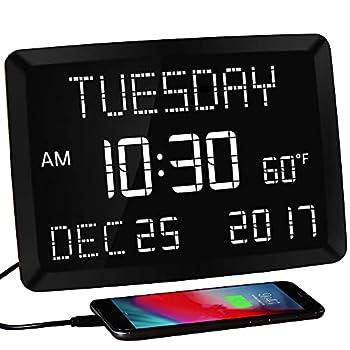digital clock with date