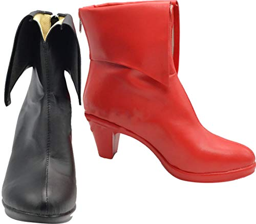 GSFDHDJS Cosplay Stiefel Schuhe for Batman Suicide Squad Harley Quinn Low Heel