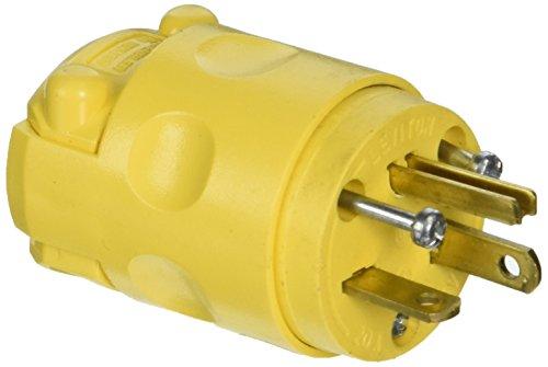 Leviton 520PV 20 Amp, 125 Volt, Plug, Grounding, Yellow