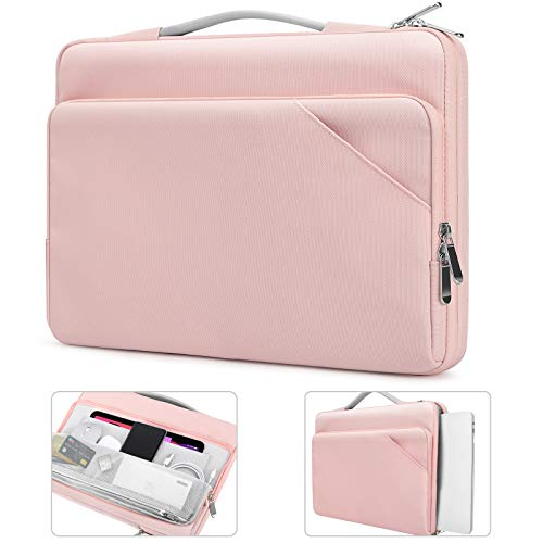 TiMOVO 14 Inch Laptop Sleeve with Handle for Macbook Pro 16' / 15' / Lenovo ThinkPad 14' / IdeaPad 3 / ASUS HP Acer Chromebook 14', Surface Book 15' / Laptop 15', Computer Bag with Pockets, Pink
