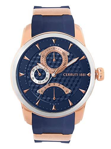 Reloj Cerruti 1881 de silicona para hombre, color azul