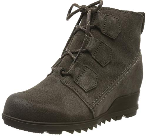 Sorel Womens Evie Lace Durable Wedge Heel Lace Up Closed Toe Ankle Boots - Major - 8.5
