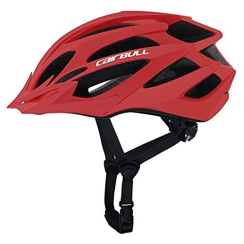 LOO LA Einstellbare Sonnenblende Specialized Fahrradhelm MTB Helm 55-61 cm Mountainbike Helm Herren & Damen mit Rucksack Fahrrad Helm Integral 20 Belüftungskanäle,Rot