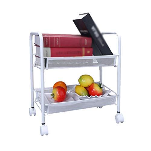 ZXL Opbergkast, praktisch gebruiksgemak, voor de woonkamer, badkamer, keuken, balkon, het kan opbergrek verplaatsen multi-plank landing incorporated pulley 44 cm & times; 56/65 / 85 cm organisator