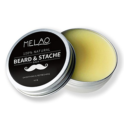 Beard Balm Softener Cream & Growth Conditioner & Leave In Conditioner & Moisturizer Wax,Natural Oil and Butter for Beard Mustache Grooming and Styling