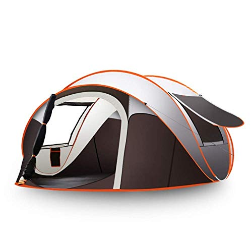 Nuokix Camping Tent, Beach Tent Automatic Pop Up Sun Shelter Lightwight for Casual Family Camping Hiking 3-4 Person 250cm*150cm*110cm,280cm*200cm*120cm