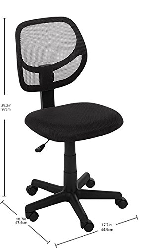 AmazonBasics Low Back Adjustable Office Chair