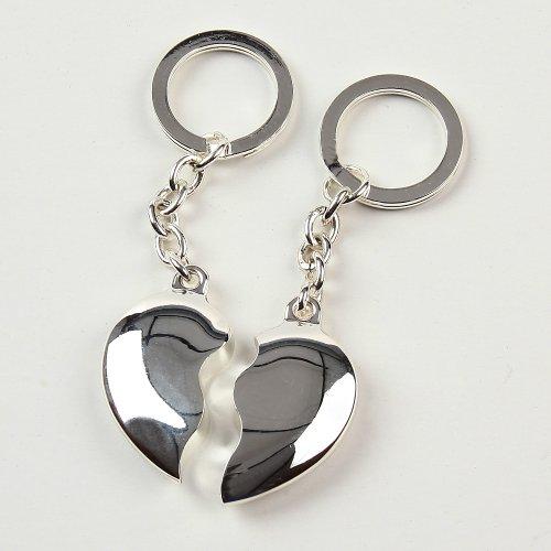 Solo hay que figura en forma de corazón llavero corazón a izquierda y derecha corazón plateado de Erno Nr, 213047 y Nr, 213049