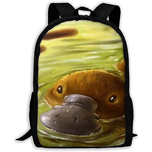 Animal Platypus Wallpaper Adult Rucksack Leichter Reiserucksack Unisex Schultern Tasche