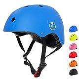 67i 自転車 ヘルメット 子供用 スケートボード アイススケート サイクリング 通学 スキー バイク 保護用ヘルメット 超軽量 サイズ調整可能 Sサイズ 48-54cm 護用ヘルメット(S, ブルー)