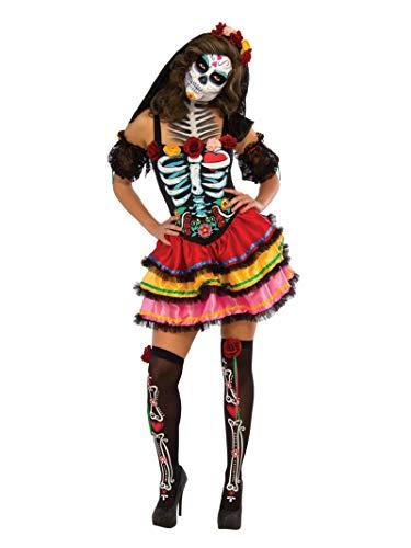 Rubie\'s 2810622XL Day of the Dead Seniora, Kostüm für Erwachsene, XL