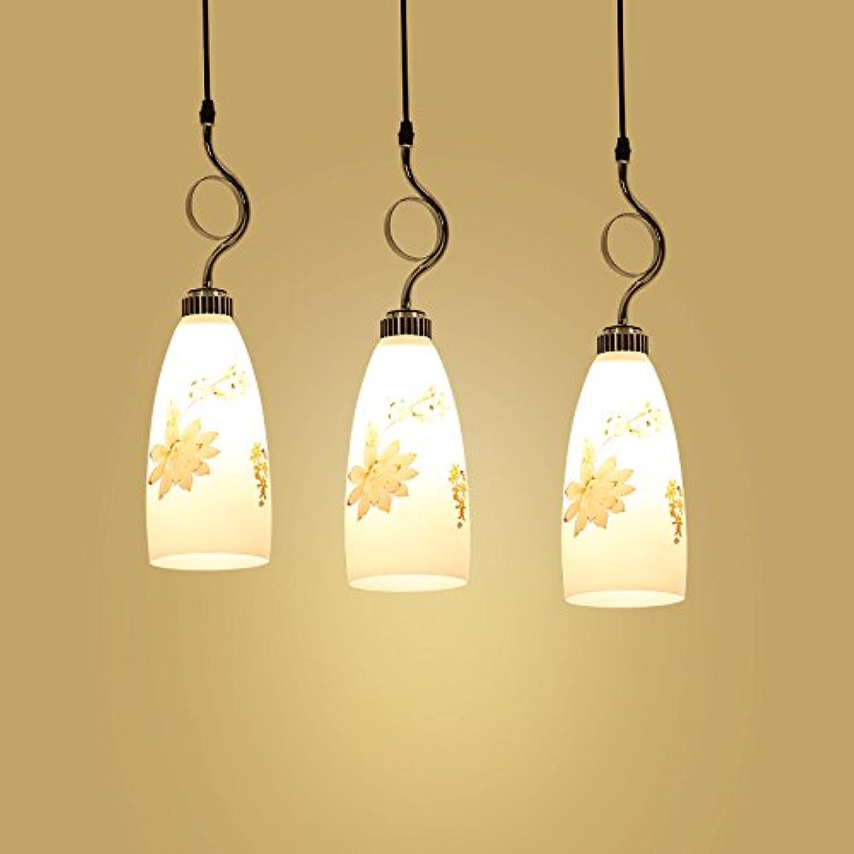BESPD Chambre minimaliste moderne créative américaine lustre en cristal Lustre Lampe Suspension 8026-3+9W