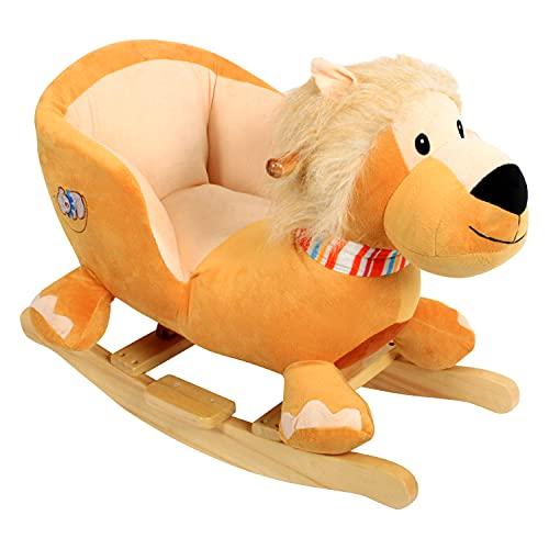 DODO D'AMOUR - Lion - Lion à bascule sonique - 054553 - 60 cm - Orange - À Partir de 12 mois