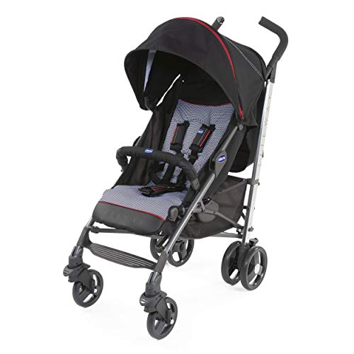 Chicco Lite Way Special Edition Complete con Bumper Bar Plegable Cubierta de lluvia Pie de Gallo