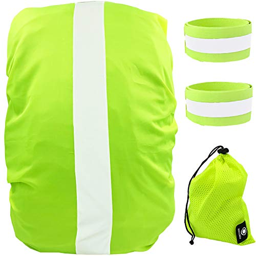 HiVisible Reflective Waterproof Backpack Cover - Will fit a 10-30L Backpack, Great for Kids That Have to Walk to School