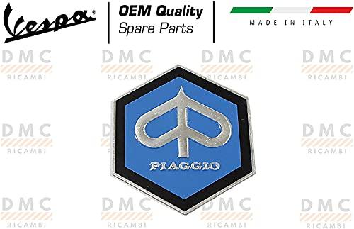 Escudo hexagonal original Piaggio para varios scooters y motos