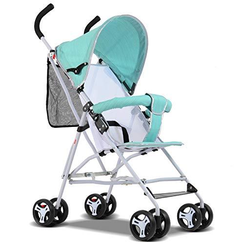 HAO XIAN SHENG kinderwagen, licht, opvouwbaar, eenvoudig te transporteren, met vier wielen voor de baby, zit kantelbaar, de kinderwagen kan in het vliegtuig zitten, E