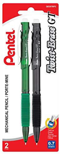 0.5mm Pack of 12 Blue Barrel Pentel Twist-Erase GT Mechanical Pencils