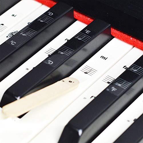 O³ Pegatinas Teclado Piano Para Piano 36/54/61/76/88 Teclas - Pegatinas Piano Para Teclas Blancas y Negras - Teclados Piano Pegatinas - Teclado Piano Principiante Piano Aprendizaje
