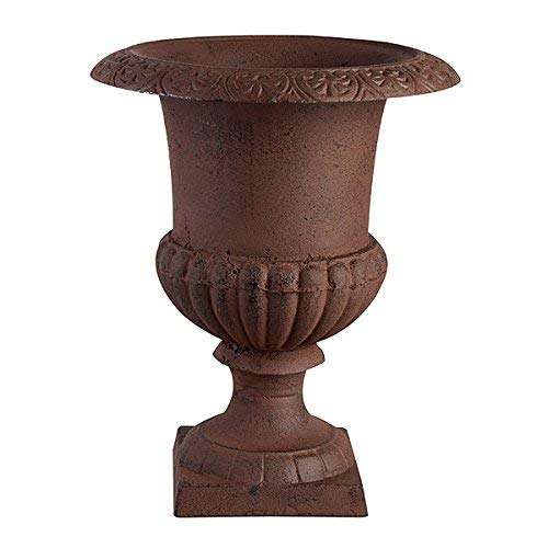 Esschert Design Französische Vase, braun, 17.3x17.3x23.1 cm, XH63-AR