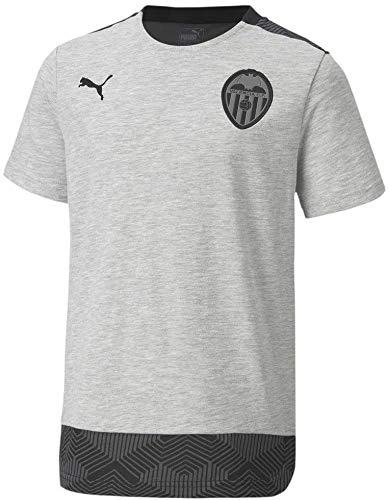 PUMA Valencia CF Temporada 2020/21-Casuals tee Light Gray Heather Camiseta, Unisex, Gris, M