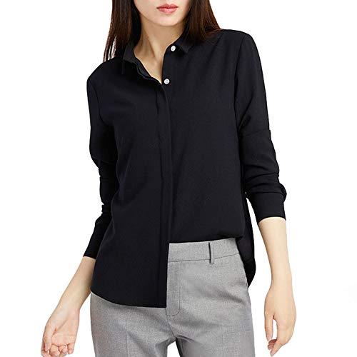 DISCOUNTL Camisa de gasa de manga larga para mujer, talla grande, informal, solapa, árbol de Navidad, disfraz para mujer (producto solo contiene camisa)