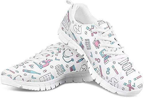POLERO - Zapatillas de deporte para hombre y mujer, transpirables, con cordones y diseño de dibujos animados, 35-48 EU