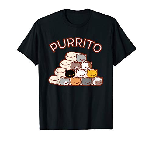 PURRITO Cat Burrito Pyramid T-Shirt