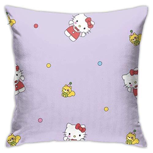 LUCKY Home Hello Kitty - Fundas de almohada para sofá, 45,7 x 45,7 cm, forma cuadrada, decorativa, funda de cojín para sofá