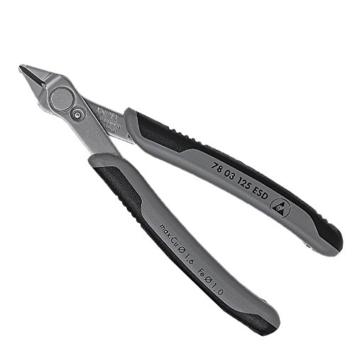 Knipex Electronic de Super de Knips ESD, longitud 175mm, 1pieza, 7803125esdsb