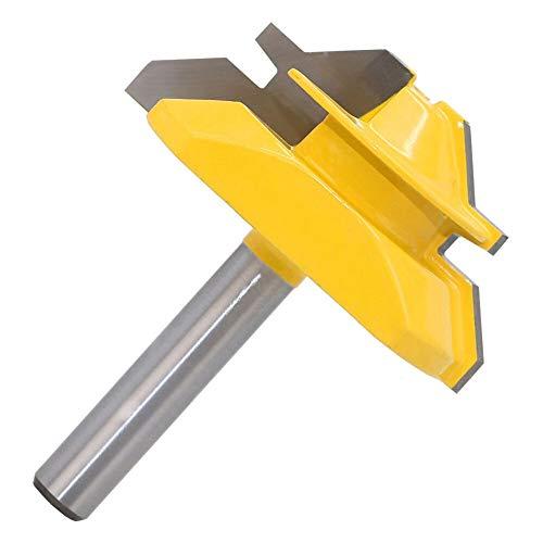QPLKL Zimmerarbeiten 1pc 8 * 2mm Schaft Schloss Mitre Fräser 45 Grad zur Holz Tenon Fräser Werkzeug Bohren Fräsen for Holz Carbide