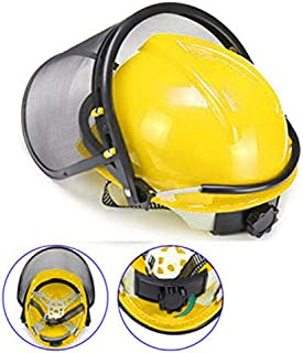 ELECTROPRIME Mask Safety Yellow+Black Helmet Plastic+Mesh Brushcutter High Quality New