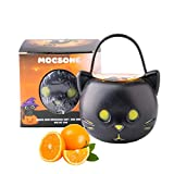 Halloween Bath Bombs for Kids Women, Self Care Gift Bubble Bomb with Natural Salt & Oils & Black Cat Toy -Sweet Orange Scented Organic Rainbow Bath Fizzies-5.3Oz