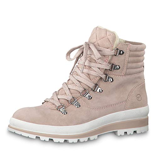 Tamaris Damen Stiefeletten 26804-33, Frauen Schnürstiefelette, Women Woman Freizeit leger Stiefel Chukka Boot halbstiefel,Light Rose,40 EU / 6.5 UK