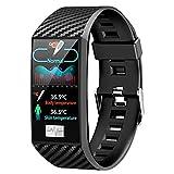 XYZK Reloj De Pulsera Inteligente Bluetooth DT58 Pro Monitor De Ritmo Cardíaco Presión Arterial Rastreador De Fitness para Android iOS,B
