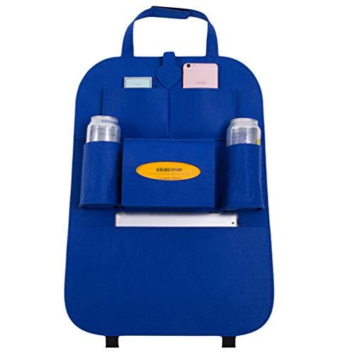Lvguang Auto Rückenlehnenschutz, Große Taschen und iPad-/Tablet-Fach, Auto Rücksitz-Organizer für Kinder (Saphir, 40 * 56cm)