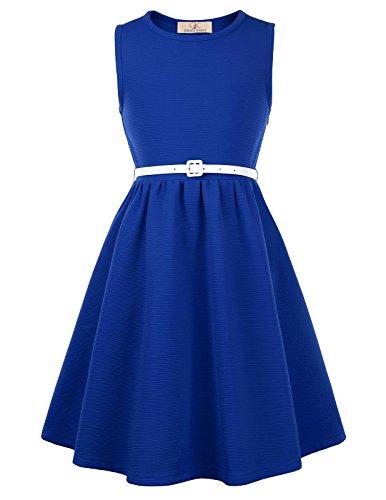 GRACE KARIN Maedchen Party Kleid Sommer Kleid 11-12 Jahre CL10482-6
