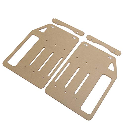 YJ‑Y3F‑002 3.5 Hard Drive Bracket, DIY Transparent Rack Cage Separator Stand, Acrylic Bracket Mounting Bracket Adapter with Screws for PC
