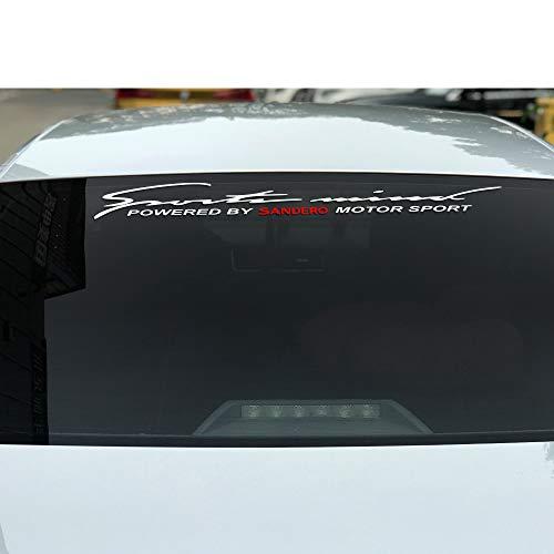 RelaxToday 2 StkAutoaufkleber reflektierende Vinyl Frontscheibe Windschutzscheibe Heckscheibenaufkleber Auto Dekoration Modellierung Aufkleber, Für Dacia Sandero