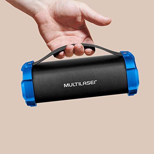 Bazooka Multilaser 50w Bluetooth Preto/Azul - SP350