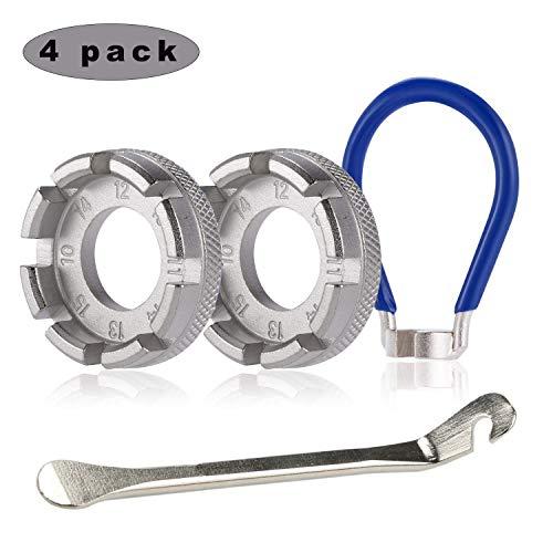 Sunshine smile Fahrradwerkzeuge reparieren,Fahrradwerkzeuge für Speichen,Fahrrad nippelspanner,speichenschlüssel Fahrrad,speichenschlüssel 4 Pack