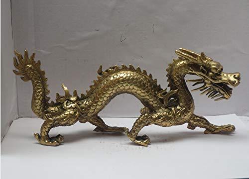 LIAOLEI10 sculptuur Lange 11 inch Metalen ambachten Home Decoratie Chinees Messing Gesneden Draak Beeldje/Chinese draak Sculptuur