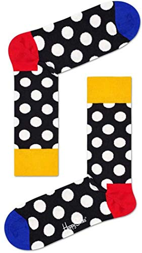 Happy Socks Big DOT Sock Calze, Multicolore (Multicolour 930), 7/10 (Taglia Unica: 41-46) Uomo