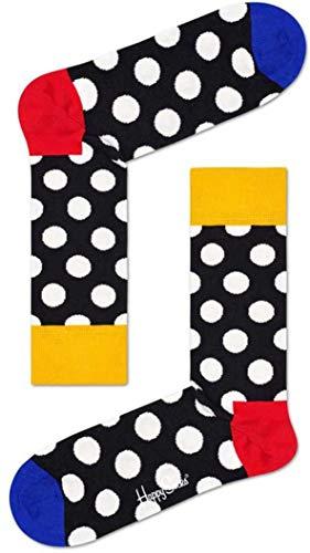 Happy Socks Meias Big Dot Sock Preto 41 - BDO01-9300-41