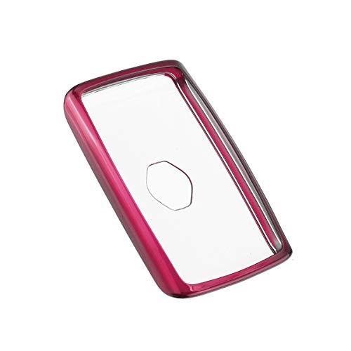 Xuping shop TPU Caso Remoto Smart Key Fob Cubierta for Renault Clio Megane Kadjar Captur Koleos 2016 2017 2018 2019 20 + Shell alejado del Coche de la Cubierta (Color : Pink)