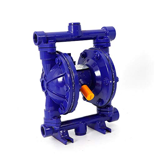 """Heavy Duty Air-operated Double Diaphragm Pump Cast iron Double Diaphragm Transfer Pump 12GPM 115PSI 1/2"""" Inlet/Outlet For Diesel Kerosene Grease Oil"""