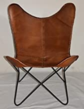 Butterfly Leather Chair - Light Brown (Leather)
